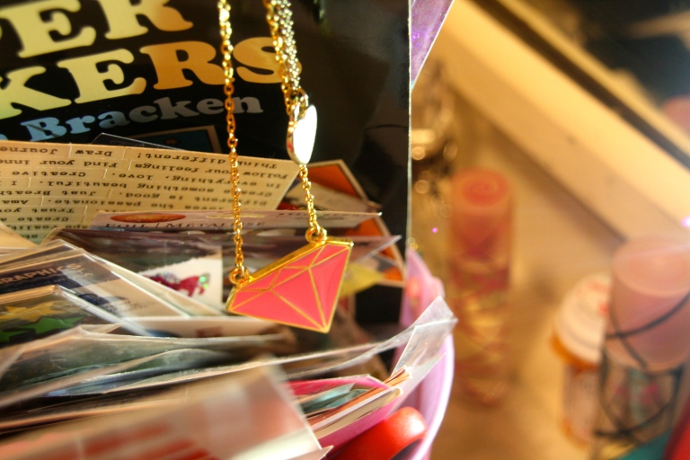 stickers and costume jewelry
