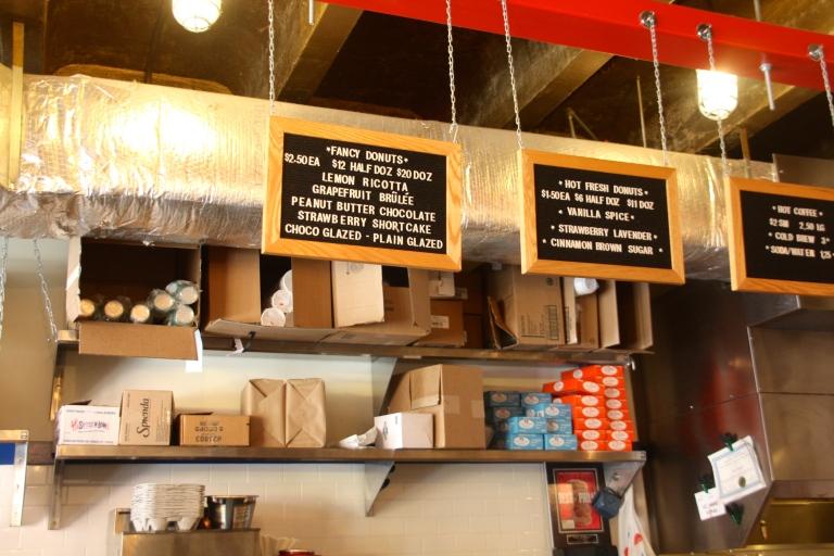 menu, federal donuts