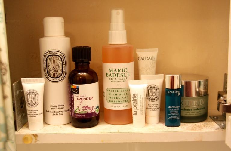 last shelf in my beauty cabinet