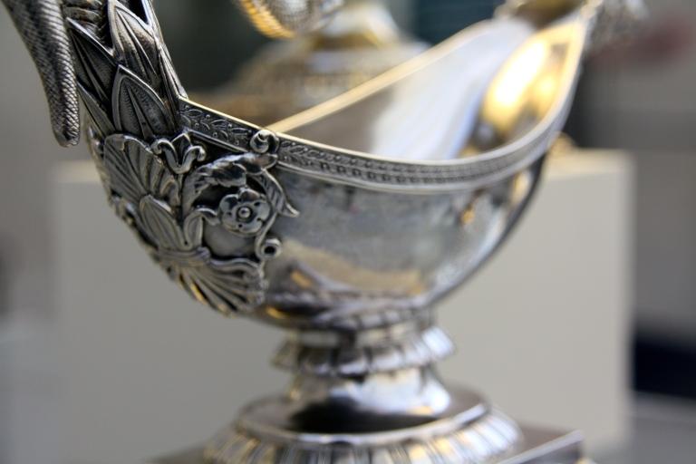 silver saucer